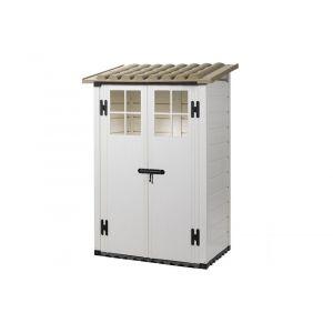 Habrita Coffre de jardin BOX EVO 100 résine capacité 1100 litres épaisseur 22 mm