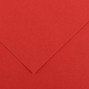 Canson 200040162 - Feuille Iris Vivaldi A4 185g/m², coloris rouge 15
