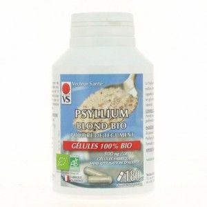 Vecteur santé Psyllium blond poudre bio 180 gél