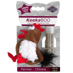 Ebi Jouet Keekaboo Farmer-Chickie 9cm - 25ml Catnip - Pour chat