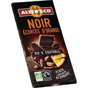 Alter Eco Tablette de chocolat noir aux ecorces d'orange