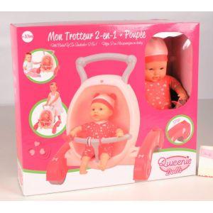 Qweenie Dolls Trotteur poussette + poupon 30 cm