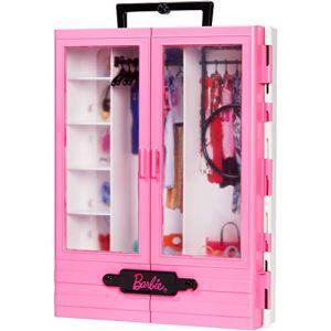 Mattel Fashionistas Le Dressing de Rêve rose à la taille de la poupée, transportable et fourni avec cintres, jouet pour Enfant, GBK11