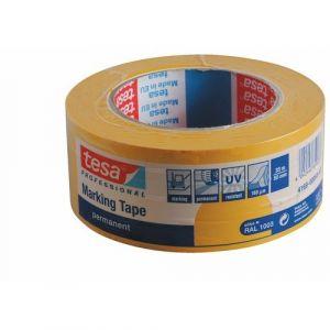 Tesa Ruban adhésif de marquage permanent PVC au sol jaune, 50 mm x 33 m 04169