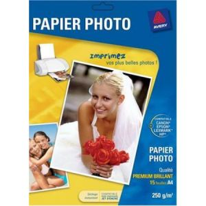 Avery-Zweckform 2555-C - 15 feuilles de papier photo Premium brillant 250g/m² (A4)