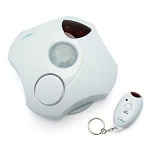 Avidsen 100335 Kit mini alarme avec detecteur de mouvement, Blanc