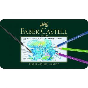 Faber-Castell Boîte en métal de 120 crayons de couleur aquarellables Albrecht Dürer