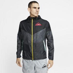 Nike Veste coupe vent windrunner trail noir rose homme m