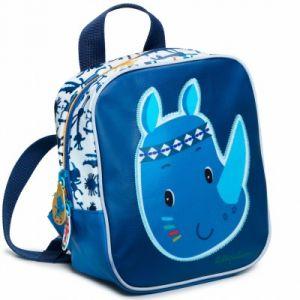Lilliputiens Sac à dos enfant mini Marius le rhinocéros bleu