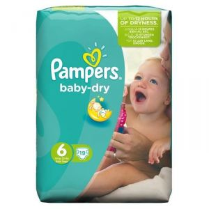 Pampers Baby Dry taille 6 Extra Large +15 kg - 19 couches