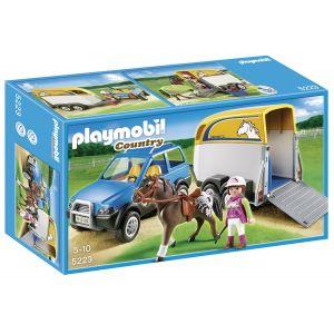 Playmobil 5223 Country - Voiture avec remorque et cheval