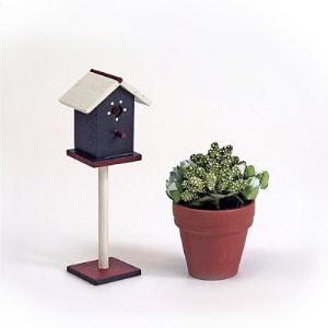 Artesania Cage à oiseaux et plante pour maison de poupée