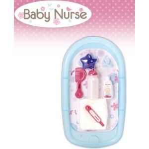 Smoby Set baignoire et accessoires Baby Nurse (220302)