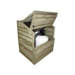 Piscine center o'clair Coffre de filtration pour piscine bois avec fond - h 133