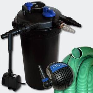 Kit de Filtration à Pression 30000l 18W UVC Stérilisateur Pompe Tuyau