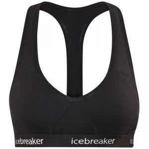 Icebreaker WMNS Sprite Racerback Bra Brassière de Sport Femme Black/Black FR: M (Taille Fabricant: M)