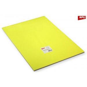 APLI 162313 - Rame de 50 feuilles de papier affiche 90 g/m², 40x60 cm, coloris jaune fluo