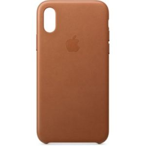 Apple Coque iPhone XS cuir Havane