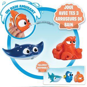 Bandai Dory Pack de 3 figurines arroseurs : Némo, Hank et M. Raie