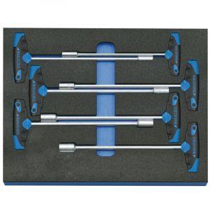 Gedore Jeu de clés à douilles emmanchées en module d'outils CT 2/4, 7 pièces - 2005 CT2-2133 T