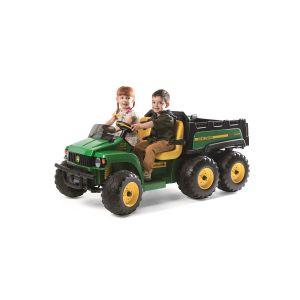 Peg Perego Tracteur Électrique 24V - John Deere Gator HPX 6x4 - 2 places - Vert/Jaune
