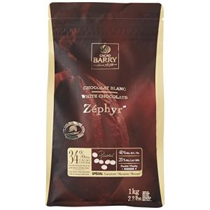 Barry M Chocolat Blanc Zephyr 34 % pistoles 1 kg
