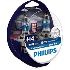 H.Koenig 2 Ampoules PHILIPS H4 RacingVision 12 V