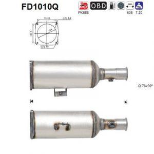 AS Filtre à particules (échappement) CITROEN C8, FIAT ULYSSE (FD1010Q)