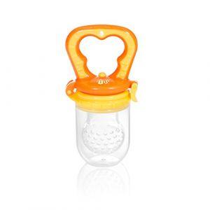 Innovaciones MS Innovations MS - Tétine souple pour fruits Anti-étouffement + rechange orange et jaune