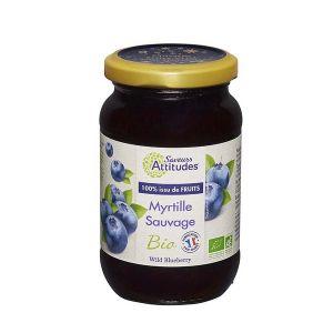 Saveurs attitudes Confiture de myrtille sauvage bio sans sucre ajouté