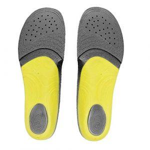 Sidas Semelle interne 3 Feet (voûte haute, fine) - XL Noir Semelles