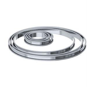 De Buyer Cercle à tarte Bords Roule Perfore en inox (28 cm)