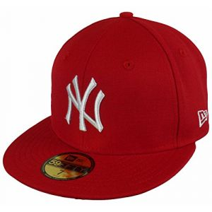 New Era Casquette 59 Fifty MLB NY Rouge/Blanc 7 3/8