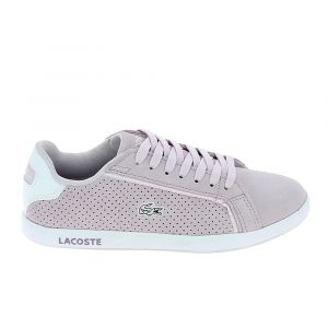 Lacoste Basket mode sneakerbasket mode sneakers graduate violet clair blanc 39