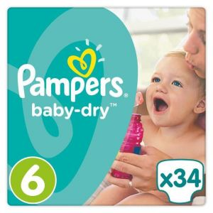 Pampers Baby Dry taille 6 (15 kg) - 34 couches