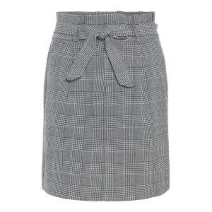 Vero Moda Jupes Vero-moda Eva Hr Paperbag Short Check Noos - Grey White - XL