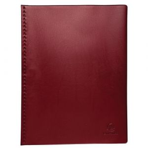 Exacompta Lot de 5 protège-documents PVC - 60 vues - vega opaque - A4 - Bordeaux - 88325E