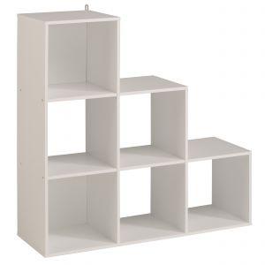 Étagère Rangement Cube Modulaire 2 Cases Dégradé Blanc