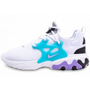 Nike Homme React Presto Blanc Turquoise Violet Baskets