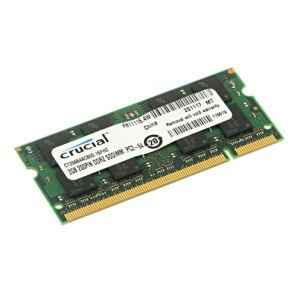 Crucial CT25664AC800 - Barrette mémoire 2 Go DDR2 800 MHz 200 broches