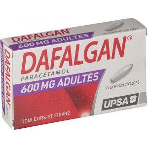 Upsa Dafalgan 600 mg - 10 Suppositoires