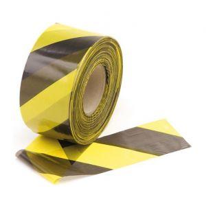 Taliaplast Ruban signalisation chantier Rubaplast noir et jaune 50 mm x 100 m