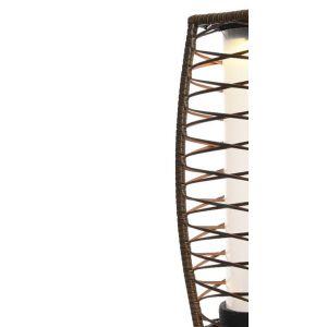 Lanterne d'extérieur LED solaire en résine tressée 68 cm