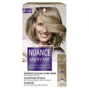 Schwarzkopf Nuance Suprême - Coloration Ton sur Ton Blond 8-0 -Etui 60 ml