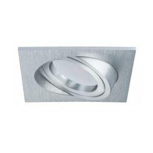 Paulmann Spot LED encastrable LED intégrée Coin 93971 blanc chaud 7 W aluminium (brossé)