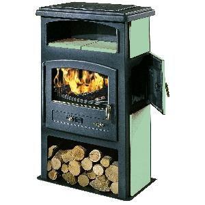 Godin 363102 - Poêle à bois Eco (Version émaillée avec niche et four)