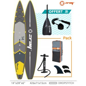 ZRay Stand Up Paddle SUP R2 Longueur 426 cm