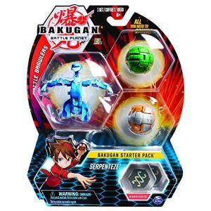 Bakugan Starter Pack - Serpenteze - 2 classiques + 1 Ultra, 6 BakuCore, 3 cartes Personnage, 3 cartes Maîtrise