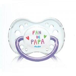 Dodie 2107908 - Sucette anatomique Fan en silicone avec anneau (18 mois +)