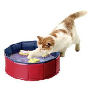 Karlie Bassin pour chat avec 3 jouets 30 x 10 cm